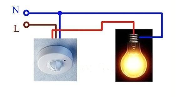 Общая схема подключения датчика света
