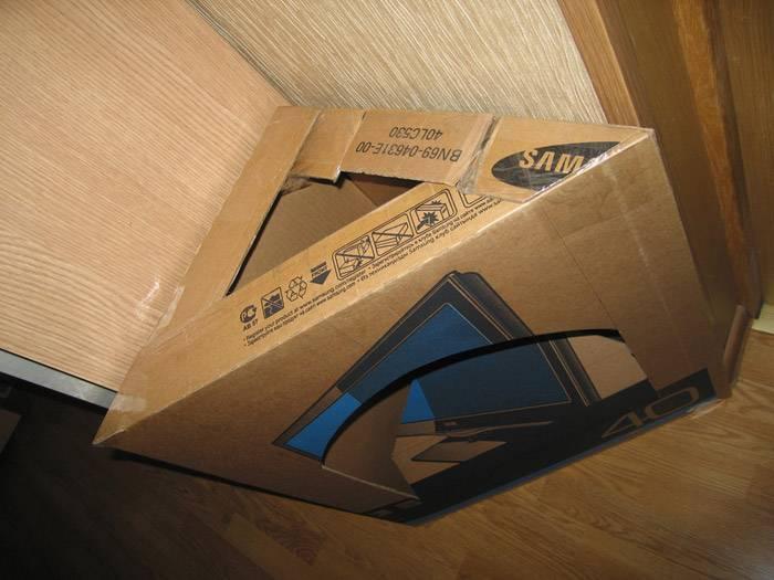 Хорошо подойдут коробки из под бытовой техники