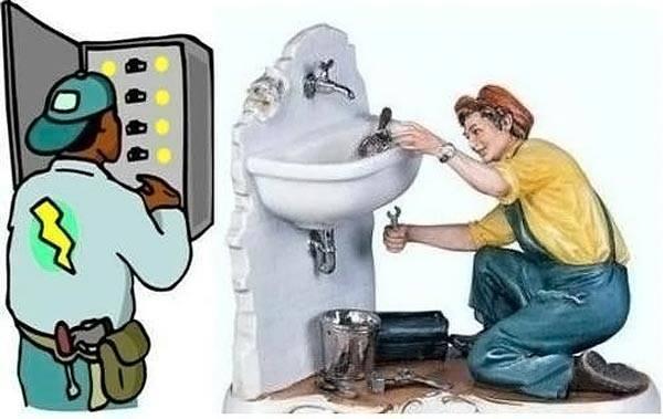 В стоимость сметы необходимо внести затраты на профильных специалистов, таких как электрик и сантехник