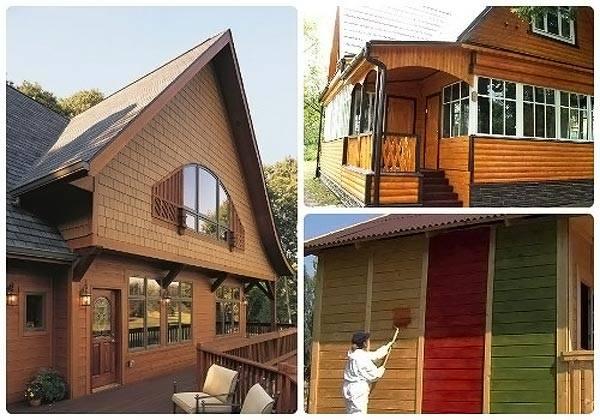 Отделочные материалы для фасадов частных домов - дерево