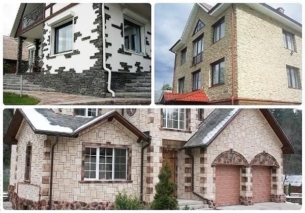 Отделочные материалы для фасадов частных домов - камень и плиты