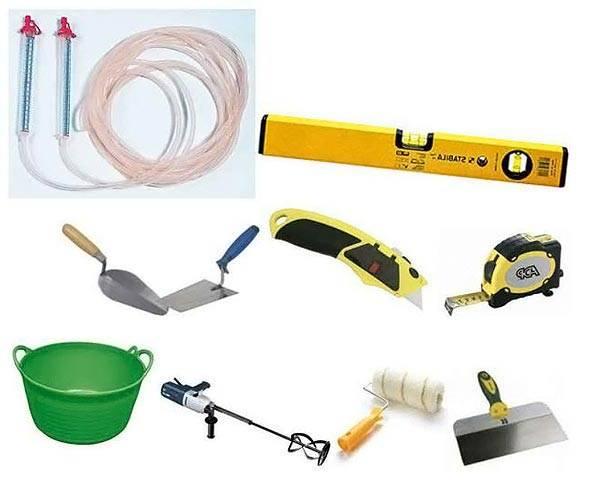Необходимый инструмент для работы со стяжкой