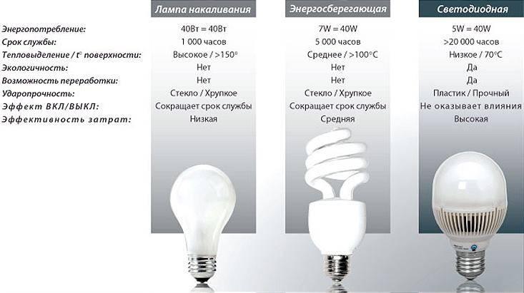 Светодиодные лампы имеют неоспоримое преимущество перед другими типами