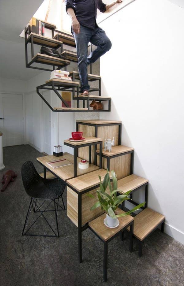Нестандартная лестница на второй этаж