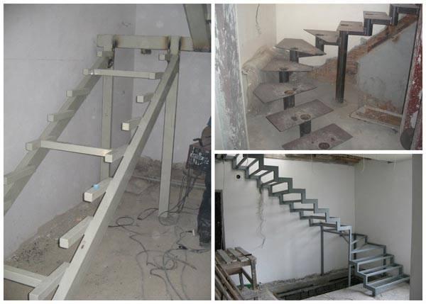 Опоры для разных типов лестниц