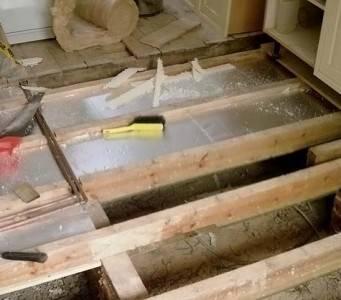 Утепление пола в деревянном доме снизу