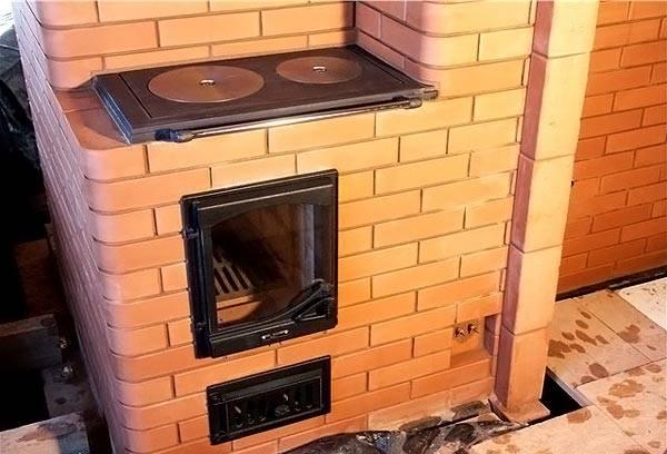 Каминная печь с плитой