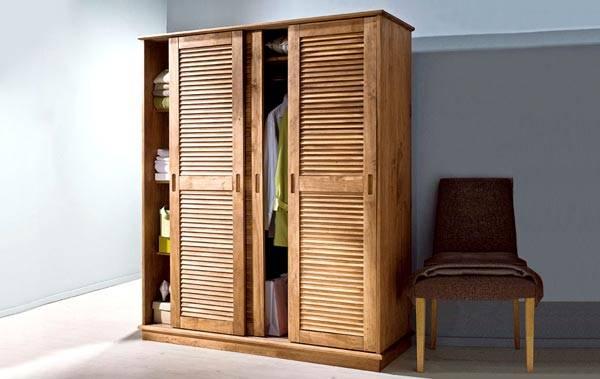 Пример использования: платяной шкаф с раздвижными дверьми