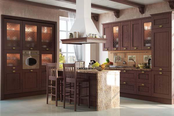 Кухонная вытяжка островного типа с местом для хранения принадлежностей