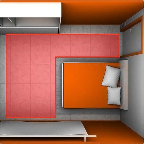 Укладка теплого пола с учетом габаритной мебели