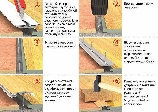Инструкция по монтажу порожка в картинках