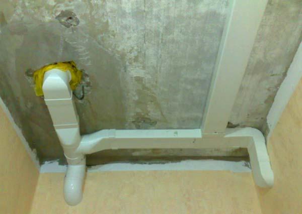 Вентиляционный канал под потолком