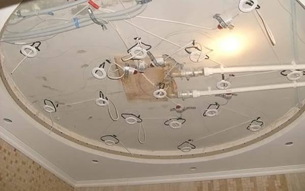 Установка консоли для точечных светильников