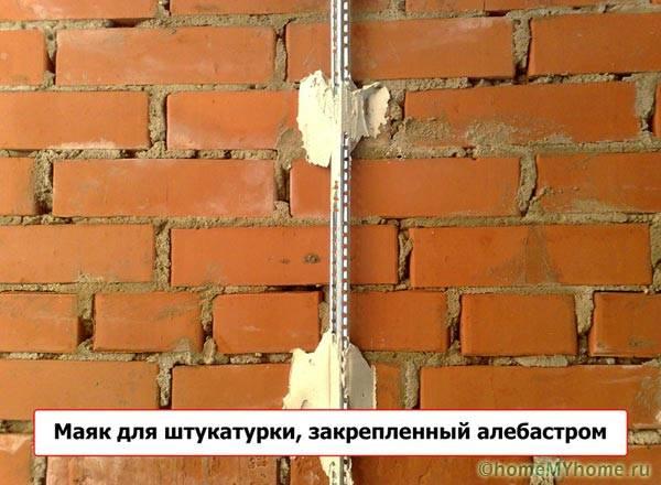 Штукатурка стены