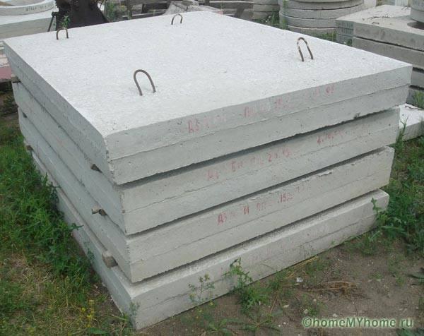 Заводская бетонная плита