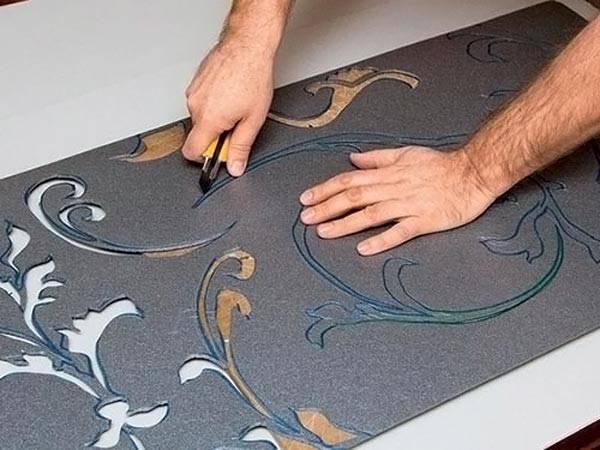 Изготовление трафарета из плотного картона