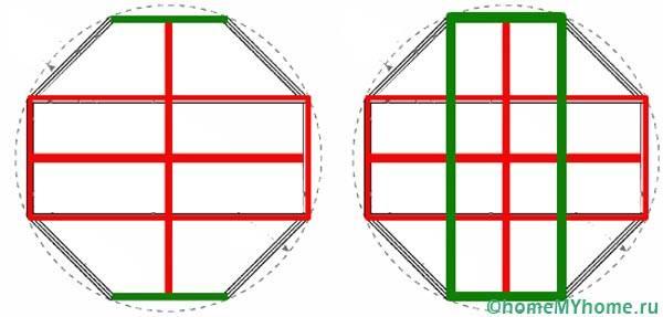 Чертеж восьмигранного основания