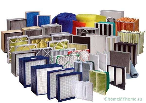 Различные типы фильтров для вентиляционной системы