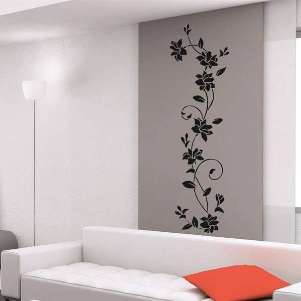 Вертикальный рисунок от пола до потолка