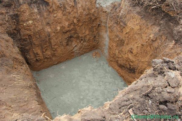 Выгребная яма в загородном доме