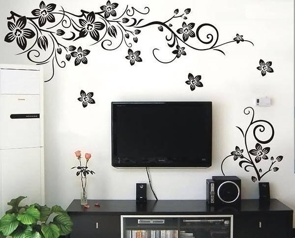 Оформление пространства над телевизором