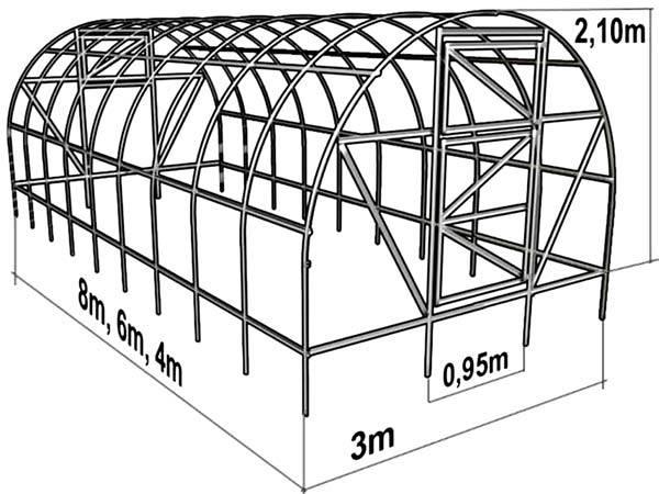 Схема каркаса №1