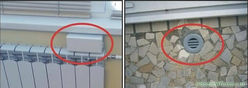 Устройство приточного вентилятора в стене