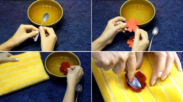 Вот как проходит процесс создания цветочка