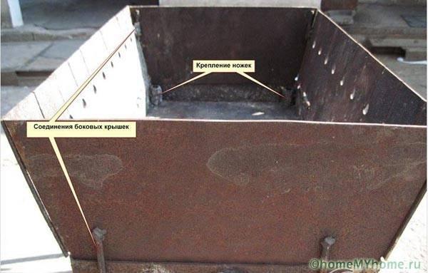 Сборка трансформируемого мангала-чемодачика