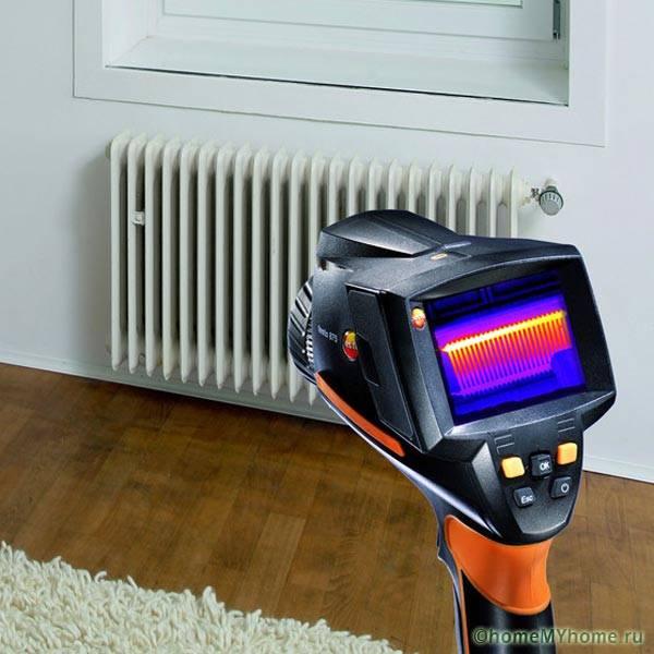 Определение мощности радиатора тепловизором