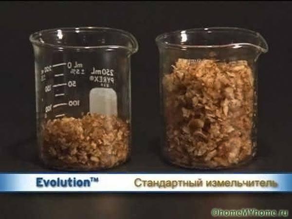 Вид перемолотых пищевых отходов