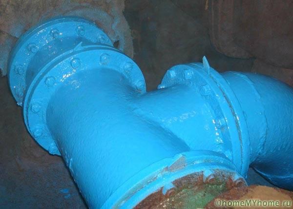 Окраска магистральных водопроводных труб
