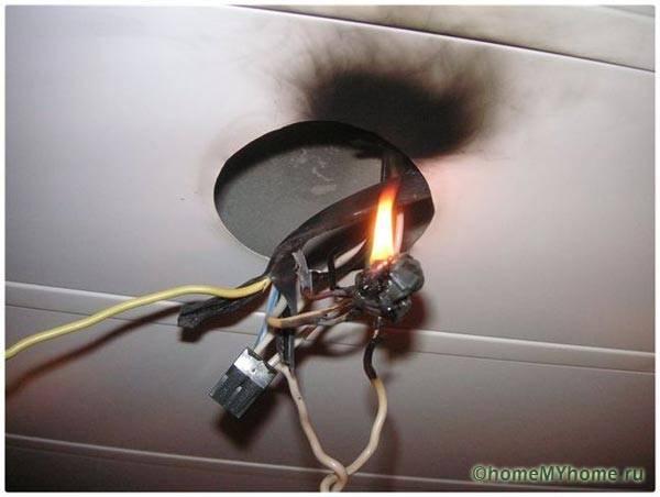 Последствия возгорания проводки