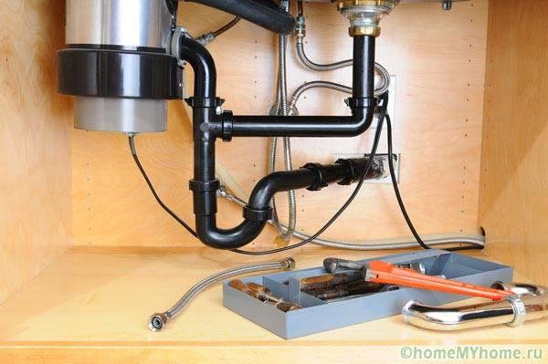 Обвязка электрического диспоузера