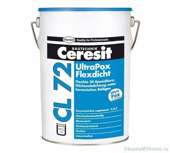 Двухкомпонентная эпоксидная мастика Ceresit CL 72