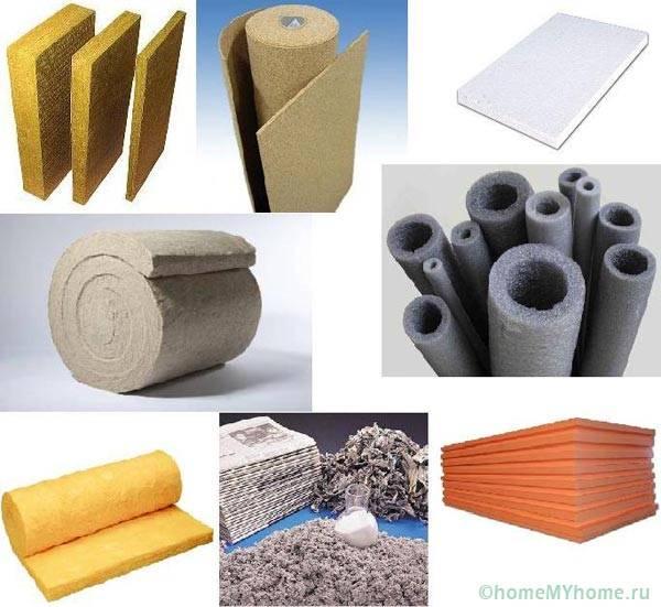 Различные теплоизоляционные материалы