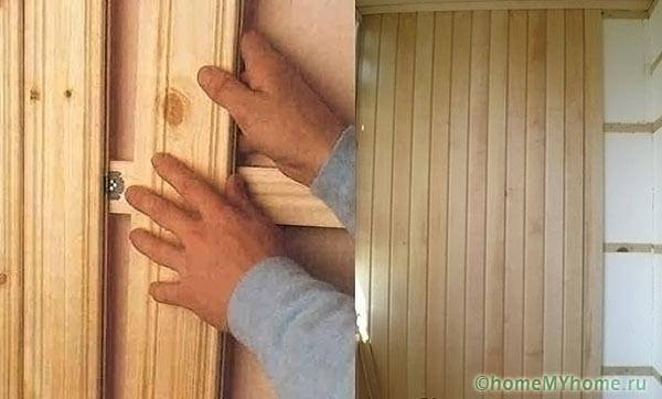 Отделка балкона своими руками вагонкой