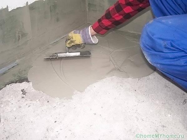 Штукатурная гидроизоляция пола на цементной основе