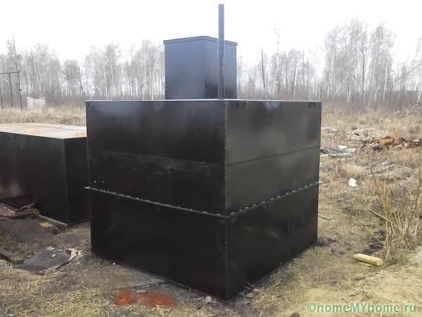 Металлический резервуар для водоочистки