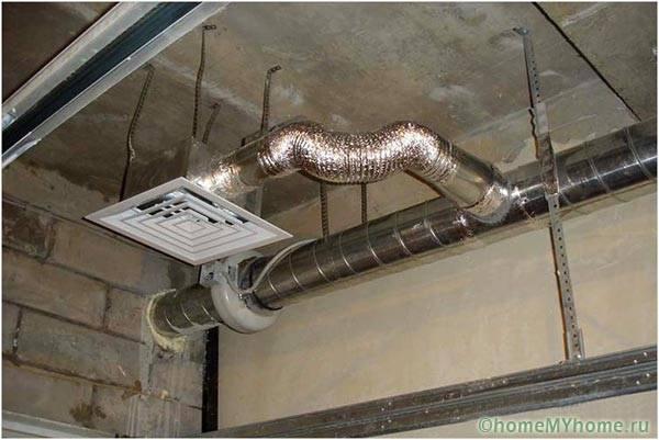 Монтаж принудительной вентиляции в гараже