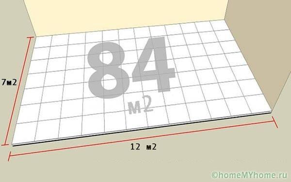 Пример простого расчета плитки на пол