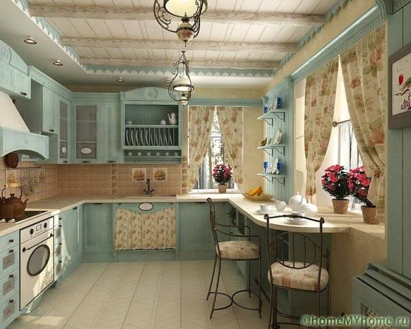 Прованс: романтика французской деревни в интерьере городской кухни