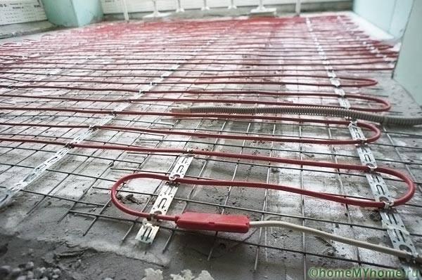 Укладка саморегулиуемого кабеля под кафель