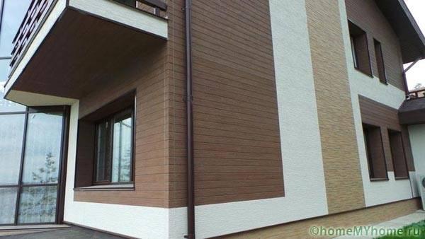 Вариант оформления фасада панелями из фиброцемента