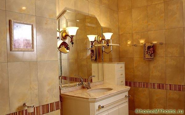 Элементы стиля барокко – это очень красиво и вполне уместно в помещениях малого объема