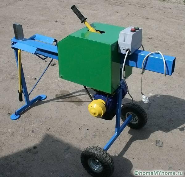 Электрический реечный дровокол