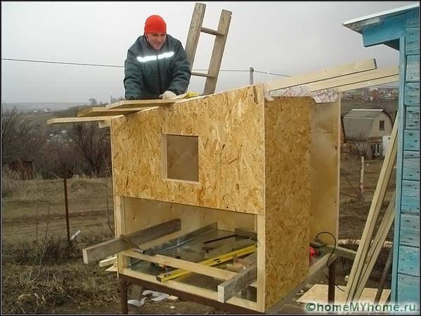 Строительство курятника из ОСП