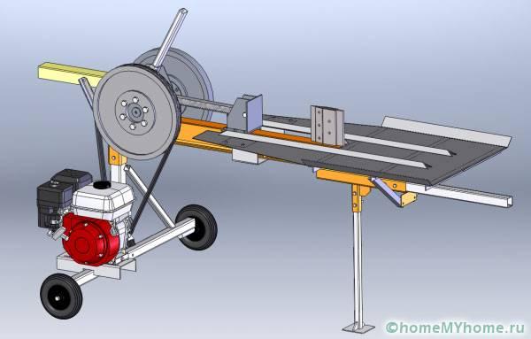 Примерная схема реечного дровокола