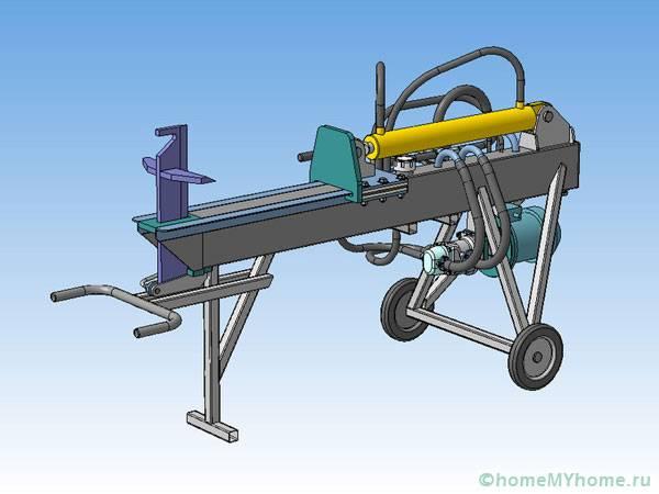 Примерная схема гидравлического дровокола