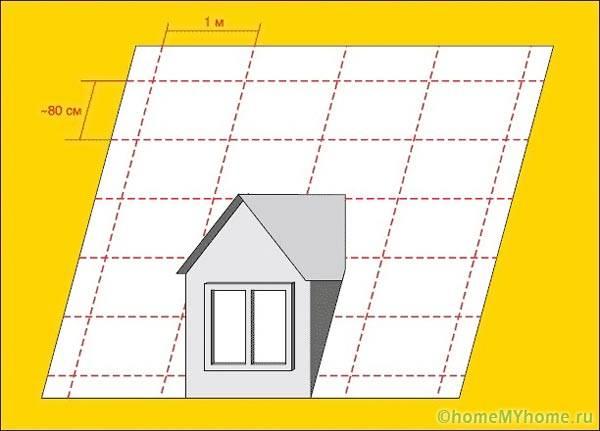 Разметка крыши